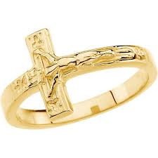 religious jewelry stores size 8 10k yellow gold crucifix chastity ring religious jewelry