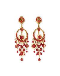 clip on chandelier earrings lyst jose barrera 24k plated chandelier clip earrings w