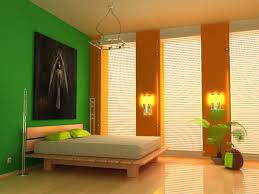 bedroom excelent orange green bedroom ideas with vertical vinyl