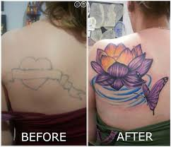 mitchdavistattooer lotus butterfly cover up lotus flower