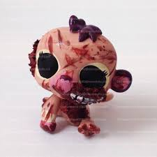 halloween lps littlest pet shop monkey toy custom ooak lps zombie walking