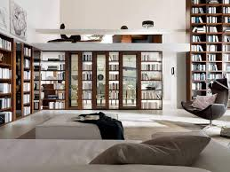 interior small corner space home library design white window