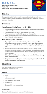 Resume For It Jobs by Superman U0027s New Job Resume Modern Man