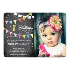 1st birthday chalkboard invitations u0026 announcements zazzle