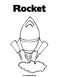 rocket ship pictures kids coloring