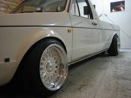 volkswagen pickup slammed white volkswagen caddy on really wide white bbs rm bbs rs zone