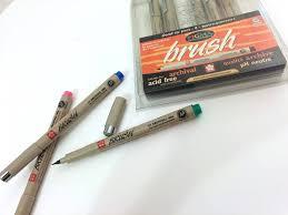 sakura pigma brush pen micron demonstration with water part 1
