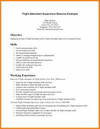 Housekeeping Supervisor Resume Sample Of Flight Attendant Resume Resume For Your Job Application