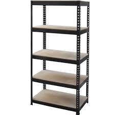 Metal Storage Shelves Decoration Edsal 72 In H X 48 In W X 24 In D 5 Shelf Steel