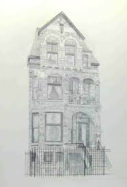 a house portrait like this brownstone is another example of the