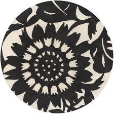 chandra zinnia modern 8 u0027 black rug collectic home
