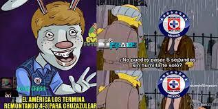 Memes Cruz Azul Vs America - los memes del cruz azul vs américa futbol total