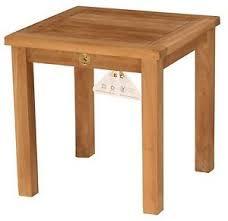 teak wood side table new 19 5 square outdoor teak wood side table patio furniture ebay