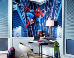 kids bedroom cool marvel comics spiderman kid bedroom wallpaper