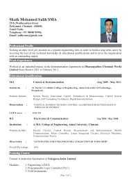resume format for mechanical engineer student resume sle resume for engineering freshers best resume format