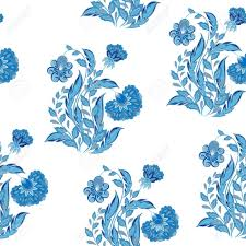 chinoiserie wrapping paper a seamless vector drawing flowers in chinoiserie style for