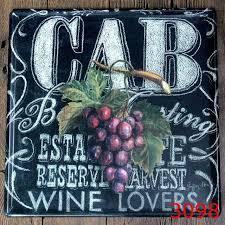 tin home decor aliexpress com buy 30x30cm vintage cab grape home decor tin sign