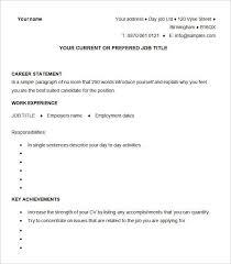 sample of resume cv free cv template curriculum vitae template