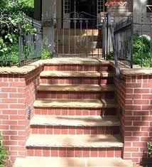 Brick Stairs Design 25 Best Patios Step Ideas Slab And Brick Images On Pinterest