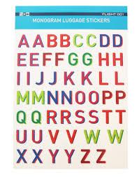 monogram stickers f1 monogram sticker set multicolor flight 001