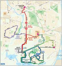 Greyhound Routes Map by Brock University U2013 St Catharines Transit Commission