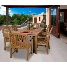 teak patio dining sets you u0027ll love wayfair