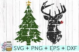 distressed christmas bundle svg dxf png design bundles