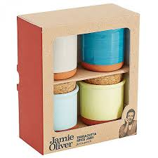 oliver terracotta spice pinch pots set of 4