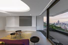 Living Room Design Photos Hong Kong Unique Modern Residence With Curvilinear Walls And Artificial