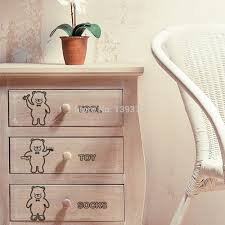 bear decorations for home bear wall stickers wall art labels for home decor storage box jars
