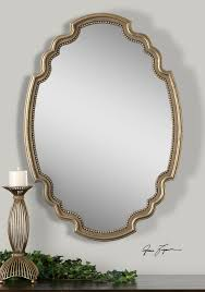 uttermost terelle oval gold mirror english country pinterest