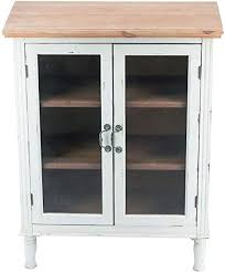 rustic kitchen cabinets with glass doors rustic farmhouse buffet sideboard kitchen dining storage cabinet with 2 glass doors 3 shelves wood top distressed white cabinet country