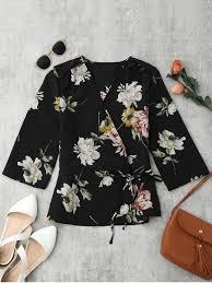 s blouse floral wrap kimono blouse floral blouses s zaful