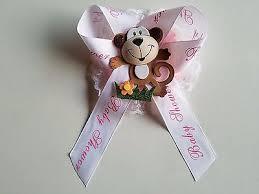 baby shower ribbon pink baby shower to be it s a girl sash monkey safari ribbon