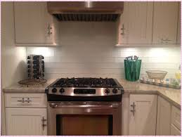 Carrara Marble Subway Tile Kitchen Backsplash by White Glass Subway Tile Kitchen Backsplash Amys Office
