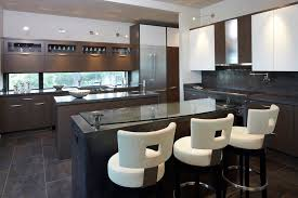kitchen modern ideas furniture curved back white leather upholstery modern bar stools