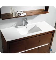 Wenge Bathroom Mirror Fresca Allier 48 Wenge Brown Modern Bathroom Vanity W Mirror