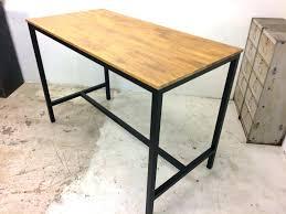 cuisine bois et metal table haute bois et metal table cuisine style industriel table bar