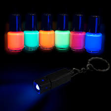neon uv nail polish set 6 x 5ml with uv lamp order at eventlights eu