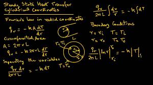 conduction heat transfer radial coordinates