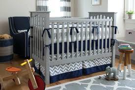 Gray And White Crib Bedding Navy And Grey Crib Bedding Set Gray White Nursery Chevron Baby