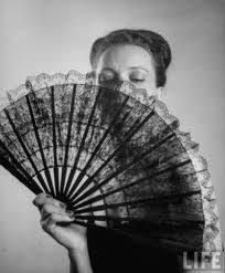 black lace fan torez w fan dancer and dancers