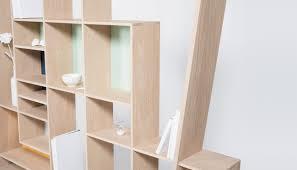 Contemporary Oak Bookcase Modular Shelf Contemporary Oak Frisco By Hugues Weill