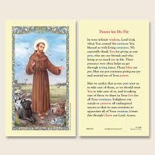 pet prayer gerffert francis of assisi prayer for my pet holy card 25pkg