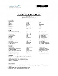 Skills For A Job Resume Actors Resume Example Resume Example And Free Resume Maker