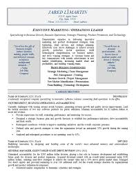 Leadership Resume Template Marketing Operations Resume Example