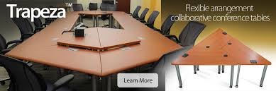 Modular Conference Table Gorgeous Trapezoid Conference Table With Smart Desks Collaborative