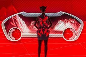audi car parts futuristic 3d printed dresses that are made from audi car parts