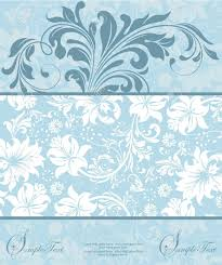 Invitation Card Stock Blue Floral Invitation Card Royalty Free Cliparts Vectors And
