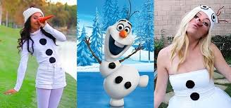 Frozen Costume Diy Olaf Costumes Low Cost Halloween Looks For Frozen U0027s Silly